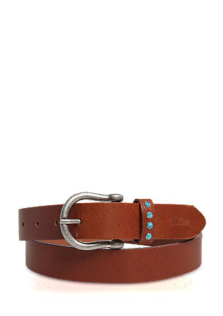 Leather belt with gemstones from s.Oliver
