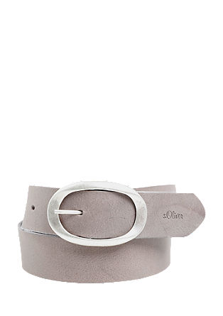 Leather belt with an oval buckle from s.Oliver