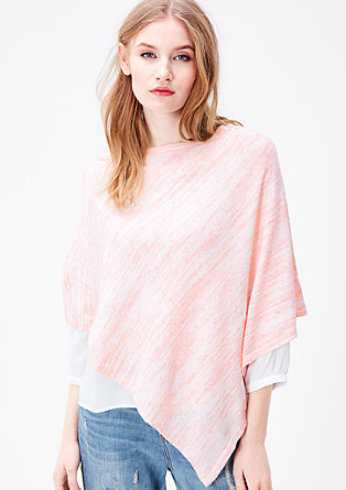 Lightweight fine knit poncho from s.Oliver