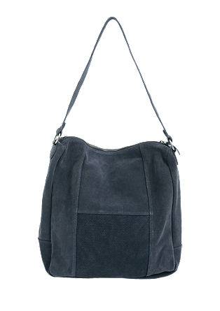 Hobo Bag aus Veloursleder