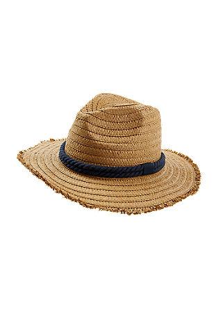 Poletni klobuk v slamnatem videzu
