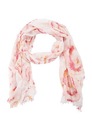 Sjaal met een gebatikte look
