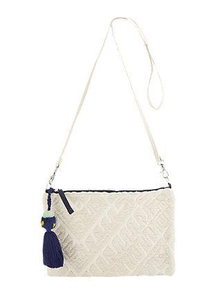 Clutch torbica iz bombažnega žakarda