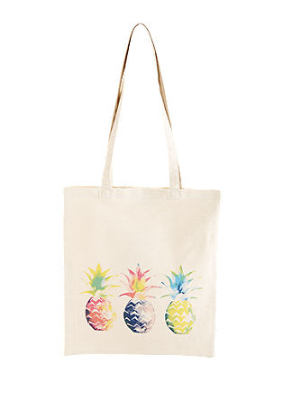 Printed canvas shopper from s.Oliver