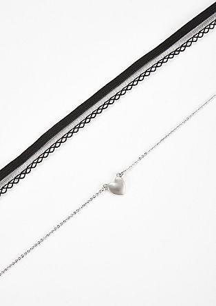 Set aus Choker und Halskette
