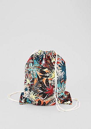 Printed cotton rucksack from s.Oliver