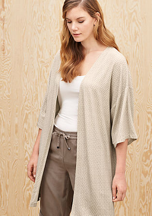 Jersey kimono met een fijn motiefje