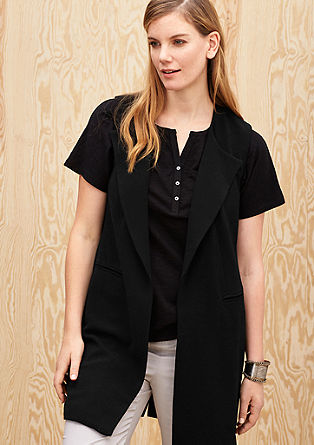 Long crepe waistcoat from s.Oliver