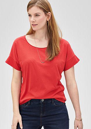 T-Shirt mit Fledermausarm