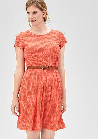 Zartes Mesh-Kleid mit Minimalmuster