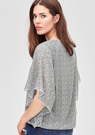Chiffon-Blusenshirt in O-Shape