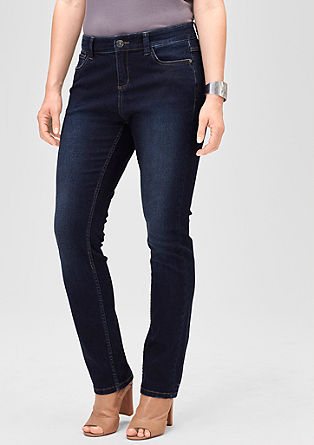 Curvy: Dunkle Superstretch-Jeans
