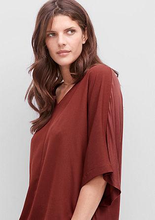 Bluzna majica s krepom spredaj
