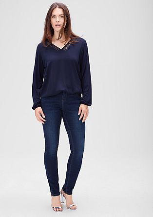 Skinny: Raztegljive modre jeans hlače