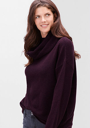 Knitted jumper with a detachable collar from s.Oliver