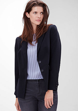 Slightly fitted short blazer from s.Oliver