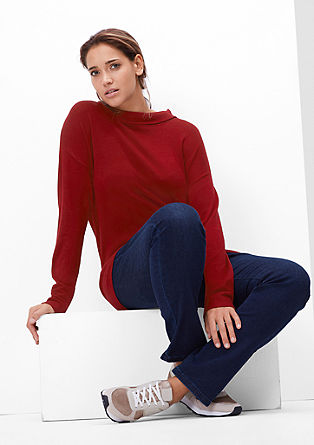 Fine knit jumper with a roll neck from s.Oliver