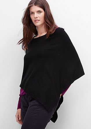 Elegant poncho in a fine knit from s.Oliver
