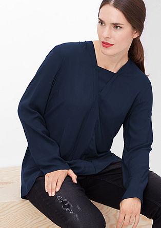 Viscose blouse met laagjeseffect