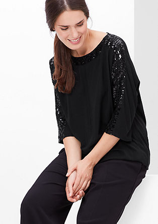 Viscose top with sequins from s.Oliver