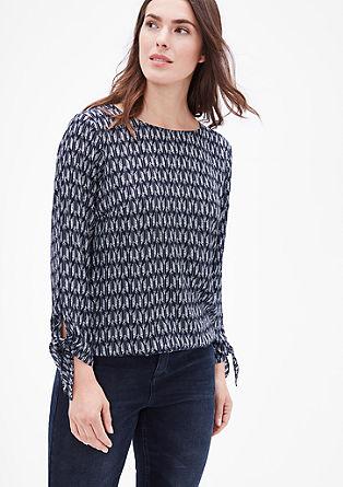 Blusenshirt mit Knoten-Details