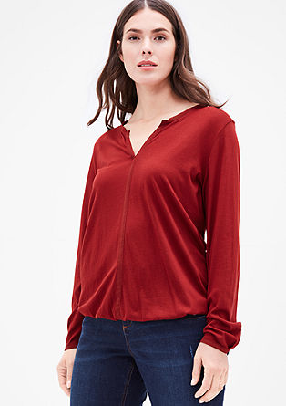 Modal blend top with a crêpe trim from s.Oliver
