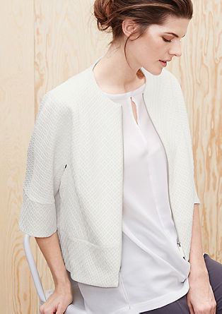 Textured blazer in a boxy design from s.Oliver