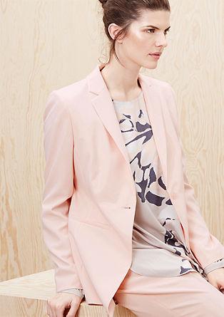 Timeless, elegant long blazer from s.Oliver