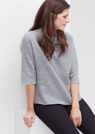 Knitted jumper in mottled wool from s.Oliver