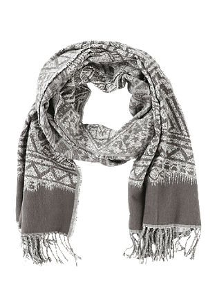 Oversized scarf with a jacquard pattern from s.Oliver