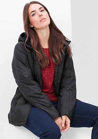 Outerwear jas met een zijdematte look