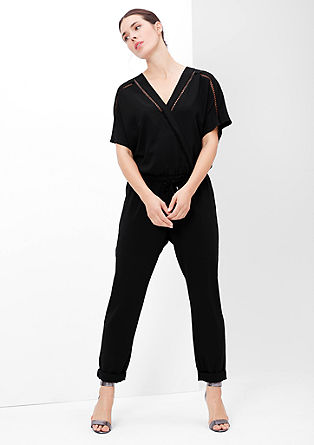 Jumpsuit with an openwork pattern border from s.Oliver