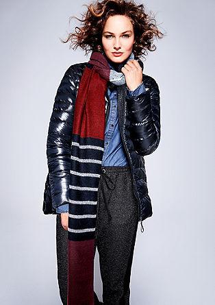 Glanzende, lichte donzen jas