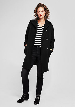 Short coat with a casual hood from s.Oliver