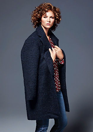 Casual bouclé coat from s.Oliver