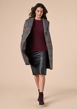 Short wool coat with a houndstooth pattern from s.Oliver