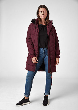 Lightweight quilted coat with a hood from s.Oliver