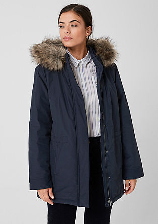 Parka with a faux fur hood from s.Oliver