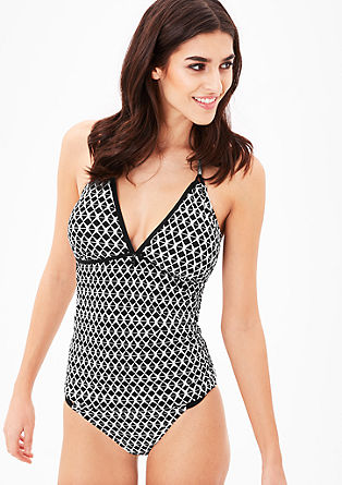 Jacquard tankini top from s.Oliver