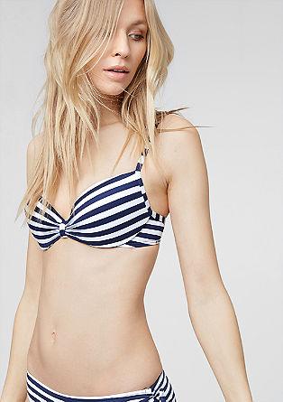 Bikini top z žakardskim vzorcem s košaricami z oporno kostjo