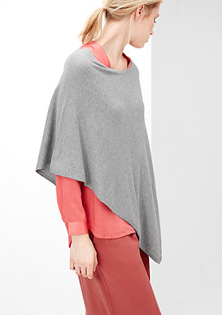 Asymmetrical fine knit poncho from s.Oliver