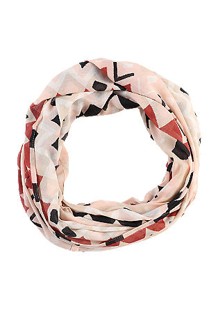 Snood with a zigzag pattern from s.Oliver