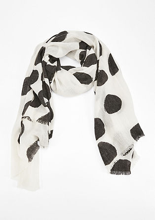 Woven scarf with polka dots from s.Oliver