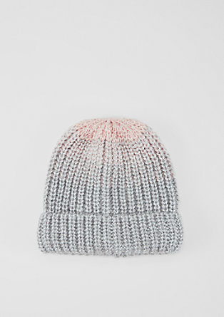 Beanie with trendy colour graduation from s.Oliver