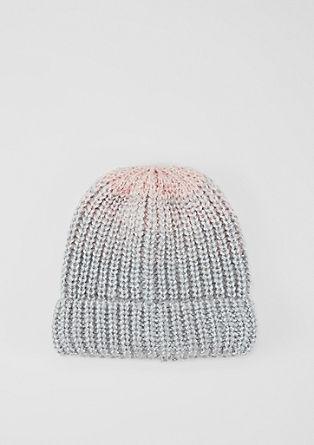 Kapa Beanie z modnim prelivanjem barv