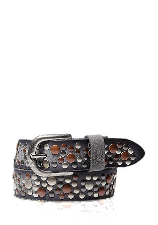 Studded leather belt from s.Oliver