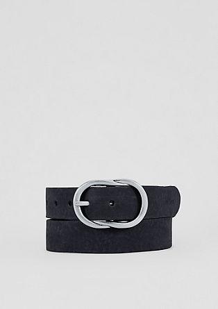 Matte leather belt from s.Oliver