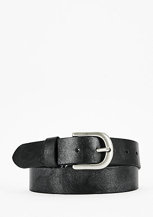 Leather belt with a shiny finish from s.Oliver
