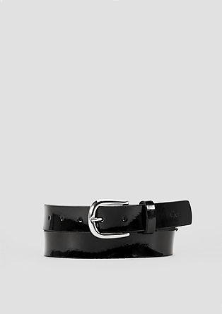 Varnish belt with a shiny buckle from s.Oliver