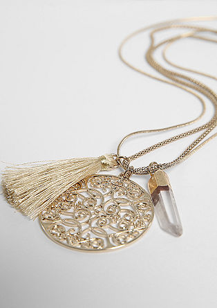 Long necklace with pendants from s.Oliver